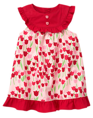 Baby Tulip Pink Tulip Ruffle Dress by Gymboree