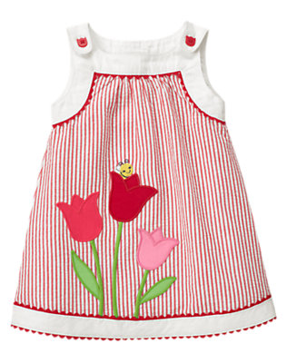 Baby Tulip Red Stripe Tulip Seersucker Stripe Jumper by Gymboree