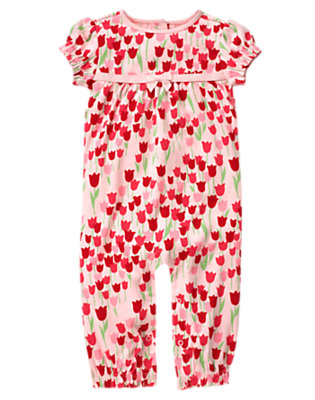 Baby Tulip Pink Tulip One-Piece by Gymboree