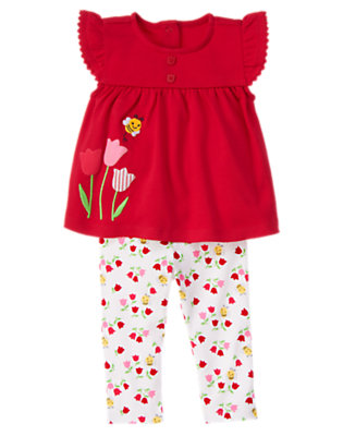 Baby Red Tulip Tulip Two-Piece Set by Gymboree