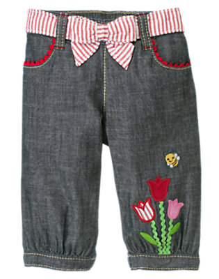 Baby Chambray Tulip Chambray Pant by Gymboree