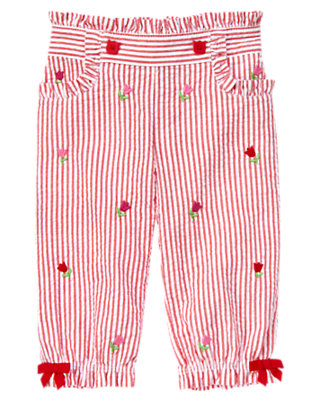 Baby Tulip Red Stripe Tulip Seersucker Stripe Pant by Gymboree