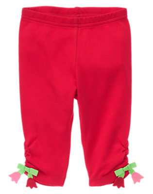 Baby Red Tulip Tulip Crop Legging by Gymboree