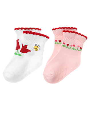 Baby White Tulip Sock Two-Pack by Gymboree