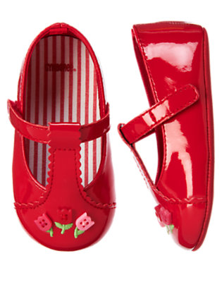 Red Tulip Tulip Crib Shoe by Gymboree