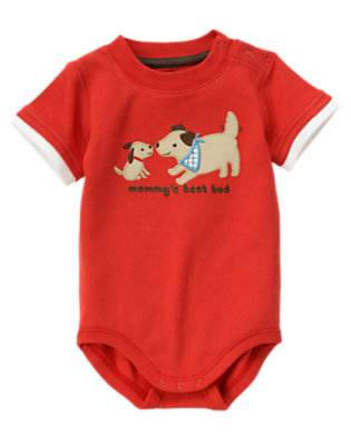 Baby Tomato Red Mommy's Best Bud Bodysuit by Gymboree