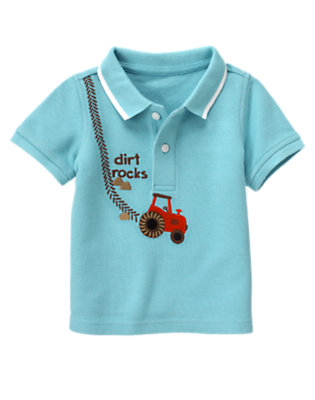 Baby Air Blue Dirt Rocks Polo Shirt by Gymboree