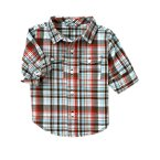 Plaid Half Cuff Shirt