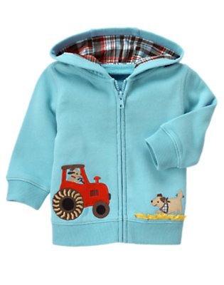 Air Blue Tractor Hoodie by Gymboree