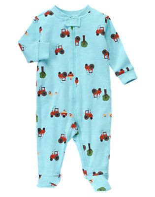 Baby Tractor Tractor Footed One-Piece by Gymboree