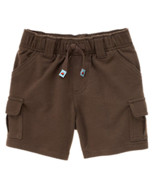 Tractor Brown Cargo Knit Short by Gymboree