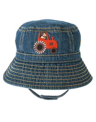 Baby Denim Tractor Denim Bucket Hat by Gymboree