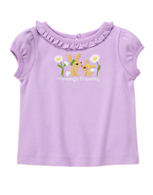 Purple Posy Mommy's Lil Bunny Tee by Gymboree