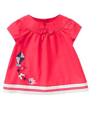 Toddler Girls Poppy Pink Button Bird Kite Top by Gymboree