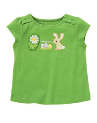 Spring Green Peek-A-Boo Bunny Tee by Gymboree
