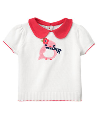 White Bird Collared Sweater by Gymboree