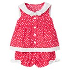 Bow Dot Sailor Collar Two-Piece Set