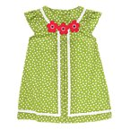 Flower Ribbon Dot Dress