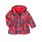 Flower Dot Hooded Raincoat