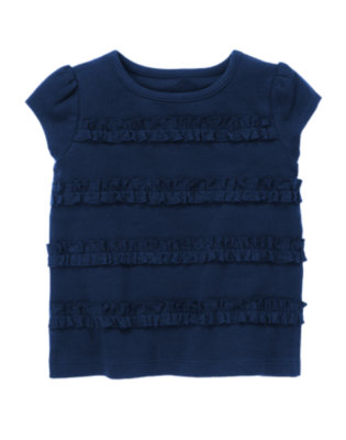 Nautical Navy Ruffle Tee by Gymboree