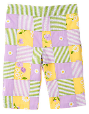 Daisy Yellow Patchwork Embroidered Daisy Patchwork Pant by Gymboree