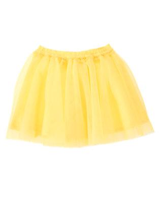Toddler Girls Daffodil Yellow Tutu Skirt by Gymboree