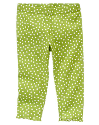 Toddler Girls Leaf Green Dot Dot Legging by Gymboree
