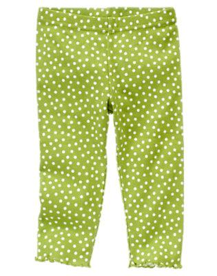 Toddler Girls Leaf Green Dot Dot Legging by Gymboree