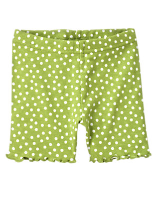 Toddler Girls Leaf Green Dot Dot Bike Short by Gymboree