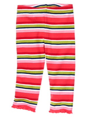 Toddler Girls Spring Pink Stripe Stripe Legging by Gymboree