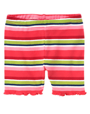Toddler Girls Spring Pink Stripe Stripe Bike Short by Gymboree