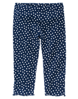 Toddler Girls Nautical Navy Dot Dot Legging by Gymboree