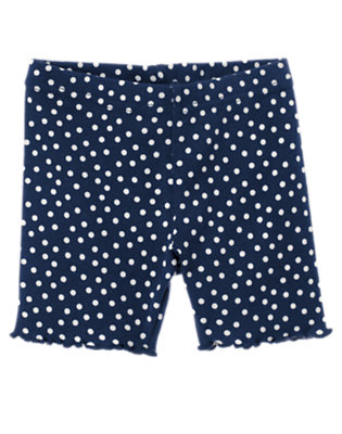 Toddler Girls Nautical Navy Dot Dot Bike Short by Gymboree