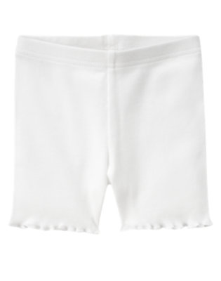 Toddler Girls White Bike Short by Gymboree