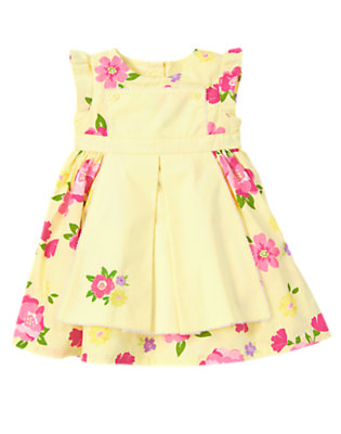 Toddler Girls Yellow Buttercup Flower Apron Dress by Gymboree