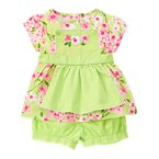 Flower Apron Two-Piece Set