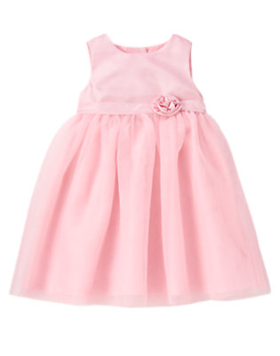 Rosebud Pink Rosette Tulle Dress by Gymboree