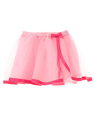 Toddler Girls Spring Pink Ribbon Tutu by Gymboree