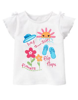 White Sun, Flip Flops, Flowers Tee by Gymboree