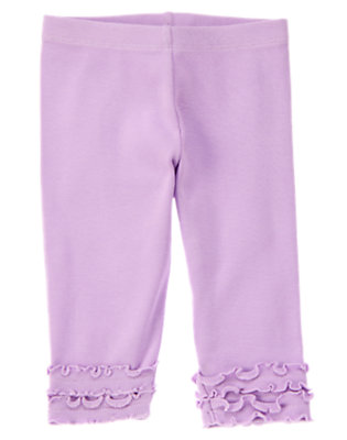 Toddler Girls Purple Posy Ruffle Legging by Gymboree