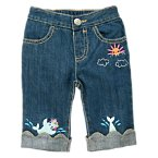 Swimming Seal Scalloped Jean
