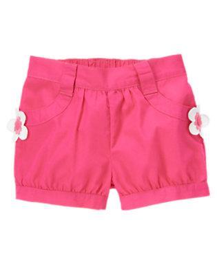 Zinnia Pink Flower Pocket Short by Gymboree