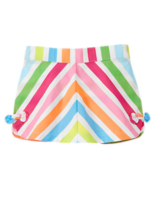 Toddler Girls Rainbow Stripe Chevron Stripe Skort by Gymboree