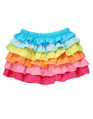 Rainbow Rainbow Ruffle Skirt by Gymboree