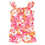 Flower Button Romper