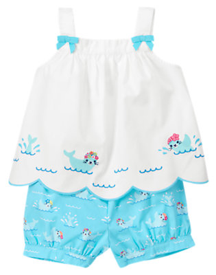 Seal Blue Swimming Seal Two-Piece Set by Gymboree