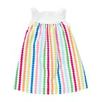Rainbow Dot Stripe Pique Dress