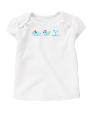 White Swimming Seal Tee by Gymboree
