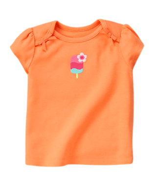 Sunny Orange Popsicle Blossom Tee by Gymboree