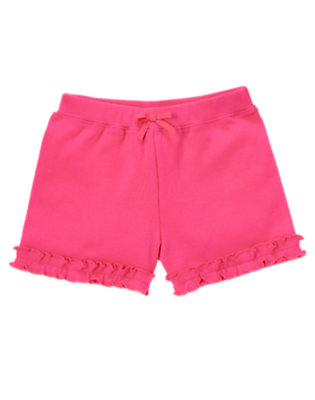 Toddler Girls Zinnia Pink Ruffle Bow Short by Gymboree